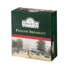 Ahmad Tea London english breakfast tea 100 torebek z zawieszką