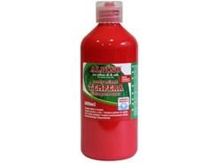 Farba tempera plakatowa Alpino w butelce 500ml czerwony