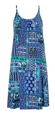 1c7ec21804 Cellbes Sukienka plażowa - niebieski we wzory cellbes
