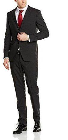 a5f8efb08bb5f Amazon Esprit Collection garnitur męski 996eo2 m901 – z bocznymi  szczelinami, kolor: czarny (