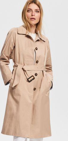 Reserved - Płaszcz z paskiem - Beżowy