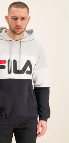 Fila Urban Line Night Blocked True RedBlackBright White Bluza z kapturem