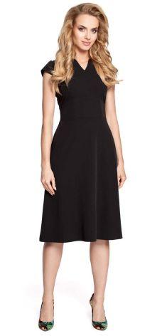 1964e0b82dc54 Podobne produkty do Lou-Lou Czarna Rozkloszowana Midi Sukienka z Gorsetową  Górą z Gumkami. MOE Czarna Sukienka Koktajlowa Midi z Zaznaczoną Talią