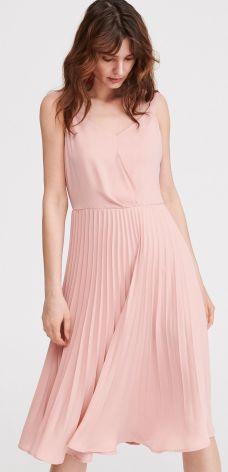 2461271c84e85d Reserved - Sukienka z plisowanym dołem - Różowy ...