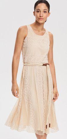 52715a7ca7 Reserved - Sukienka w stylu boho - Beżowy ...