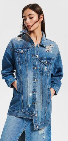 5dfea283d8 Reserved - Kurtka jeansowa - Niebieski ...