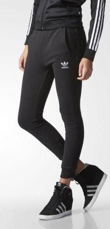 a5144f29495603 Spodnie damskie Adidas Czarne Stan Normalny - Ceneo.pl
