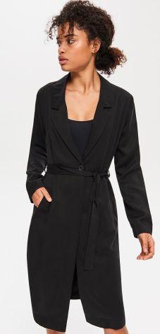 Reserved - Płaszcz z Tencelu™ - Czarny