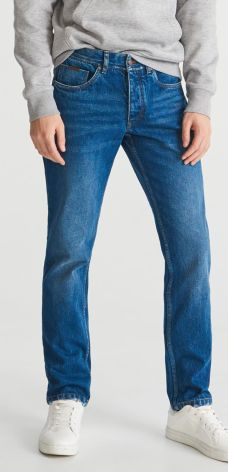 ec5178f01 Reserved - Spodnie jenasowe regular - Granatowy ...