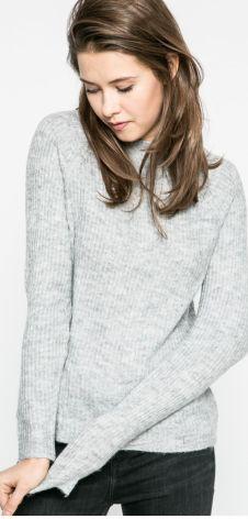 b9655962d5e149 Mohito - Sweter z elementami koszuli z domieszką wełny - Niebieski ...