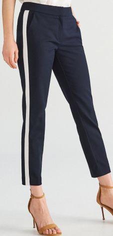 401c409cc6410 Reserved - Spodnie z lampasami - Granatowy ...