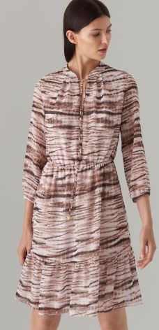 14a08111 Mohito - Sukienka oversize z żabotem - Różowy - Ceny i opinie - Ceneo.pl