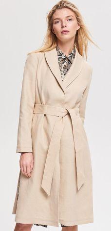 Reserved - Płaszcz z lnem - Beżowy