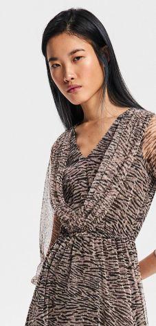 45670bc858 Reserved - Wzorzysta sukienka - Wielobarwn ...