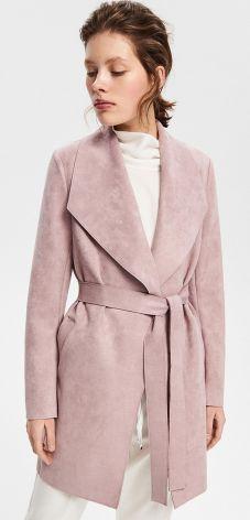 Reserved - Płaszcz z paskiem - Fioletowy