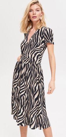 4a97f59777 Reserved - Sukienka ze zwierzęcym motywem - Wielobarwn ...