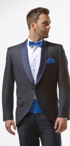 2b40435162 Granatowy smoking męski slim - Midnight Blue Tuxedo