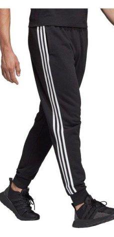 Spodnie męskie adidas Essentials 3 S Tapered Pant FL czarne