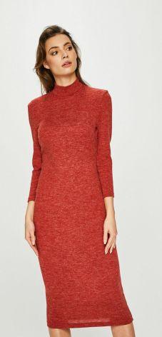a258cd8140 BE Sukienka swetrowa – dzianinowa asymetryczna midi żółta BK006 ...