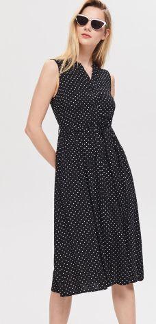 16df92f38e Sinsay - Jeansowa sukienka ogrodniczka - Niebieski - Ceny i opinie ...