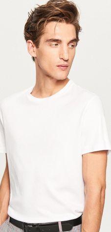 Reserved - Gładki t-shirt - Biały