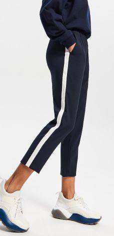 99a2fd325dcc6 Reserved - Spodnie z lampasem - Granatowy ...