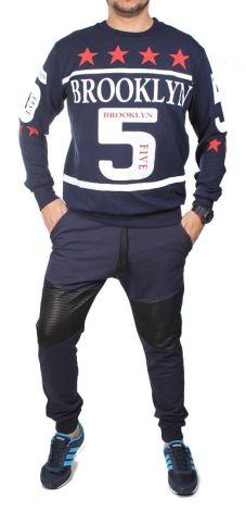 ab09331b94 Zestaw Dresowy Bluza i Spodnie K131 Granatowy - GRANATOWY