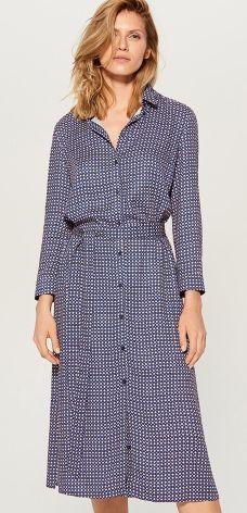 791e883f2c Mohito - Koszulowa sukienka w kratę - Niebieski Mohito