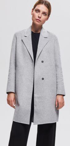 Reserved - Płaszcz z wełną - Jasny szar