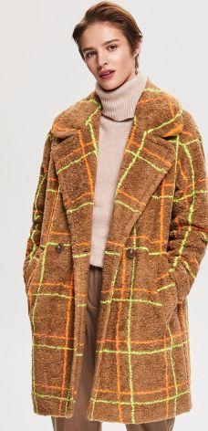 Reserved - Płaszcz z domieszką wełny - Wielobarwn