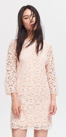 6b055ff8010953 Reserved - Koronkowa sukienka - Różowy ...