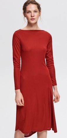 46b531b524 Reserved - Dzianinowa sukienka - Czerwony ...