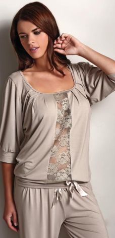 1d111bfdc52e35 Damska bambusowa piżama SERENA XL Srebrny