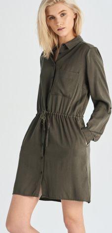 a76ec3f1db33b Reserved - Sukienka z frędzlami - Zielony - Ceny i opinie - Ceneo.pl