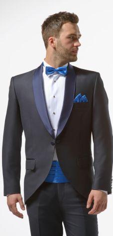 fa2fcb4880233 Granatowy smoking męski slim - Midnight Blue Tuxedo. Kup teraz. GarniturGranatowy  ...